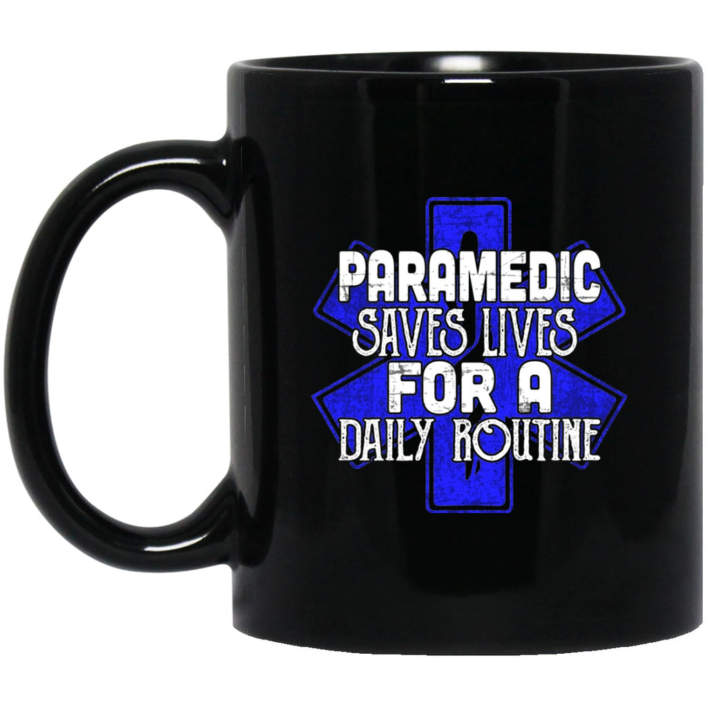 Paramedic Black Coffee Mugs - GoneBold.gift