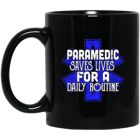 Paramedic Black Coffee Mugs