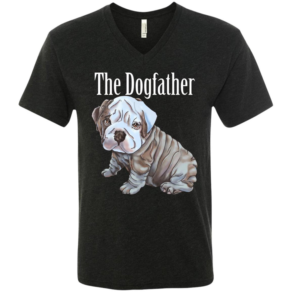 English Bulldog T-shirt for Men - The Dogfather - GoneBold.gift