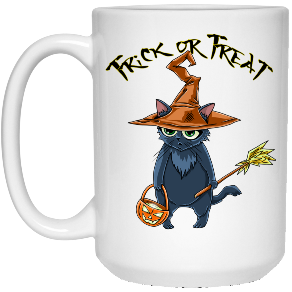 Trick or Treat Halloween Cat Mug - GoneBold.gift