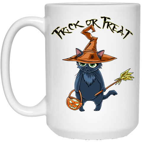 Trick or Treat Halloween Cat Mug