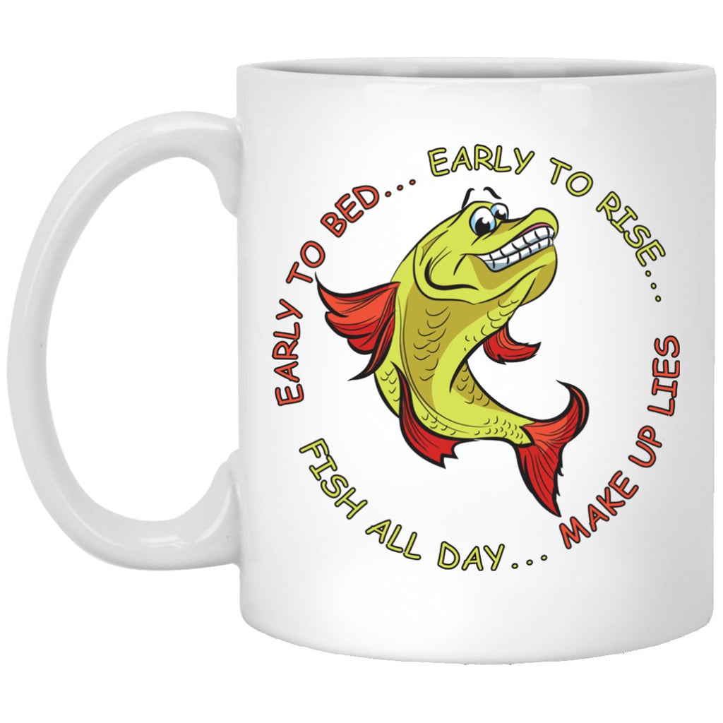 Funny fishing Mug - White Mugs - GoneBold.gift