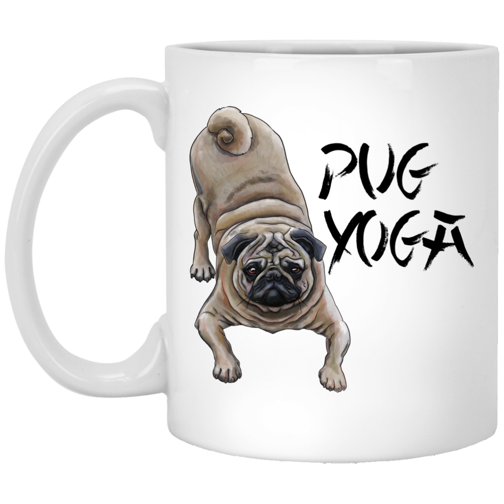 Pug Yoga Mug - Pug Gifts for Women, Men, Pug Coffee Mug - GoneBold.gift