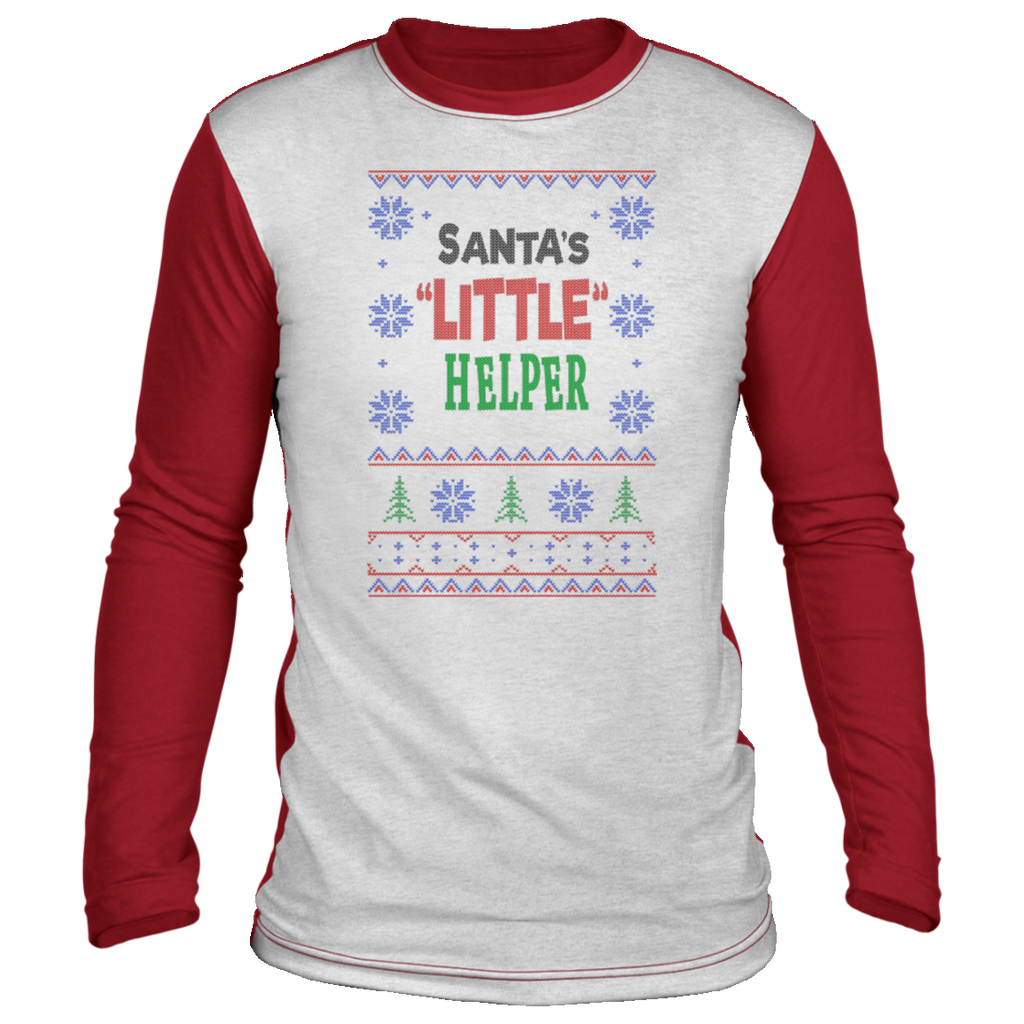 Santa's LITTLE Helper, Ugly Christmas 'sweater' Long Sleeve - GoneBold.gift