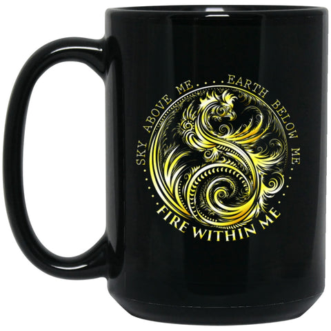 Dragon Mug Golden Dragon Quote Black Coffee Mugs - GoneBold.gift