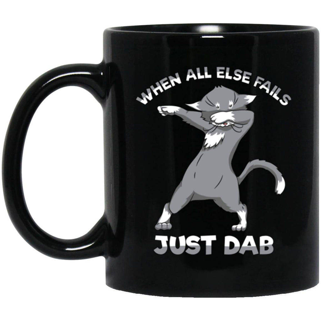 Dabbing Cat Funny Mug Dab Dance Black Coffee Mugs - GoneBold.gift