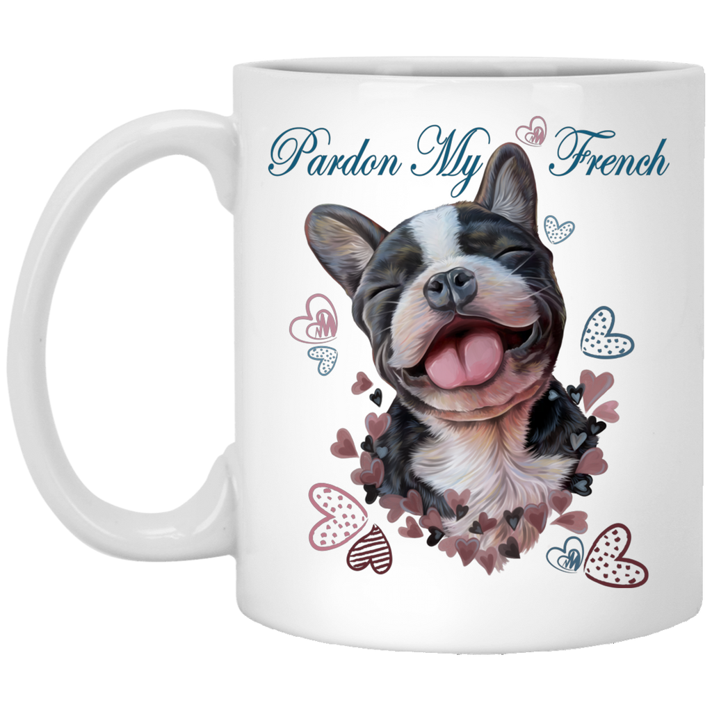 French bulldog Gifts, Funny Mug - Pardon My French - GoneBold.gift