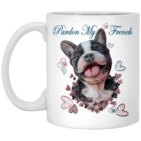 French bulldog Gifts, Funny Mug - Pardon My French