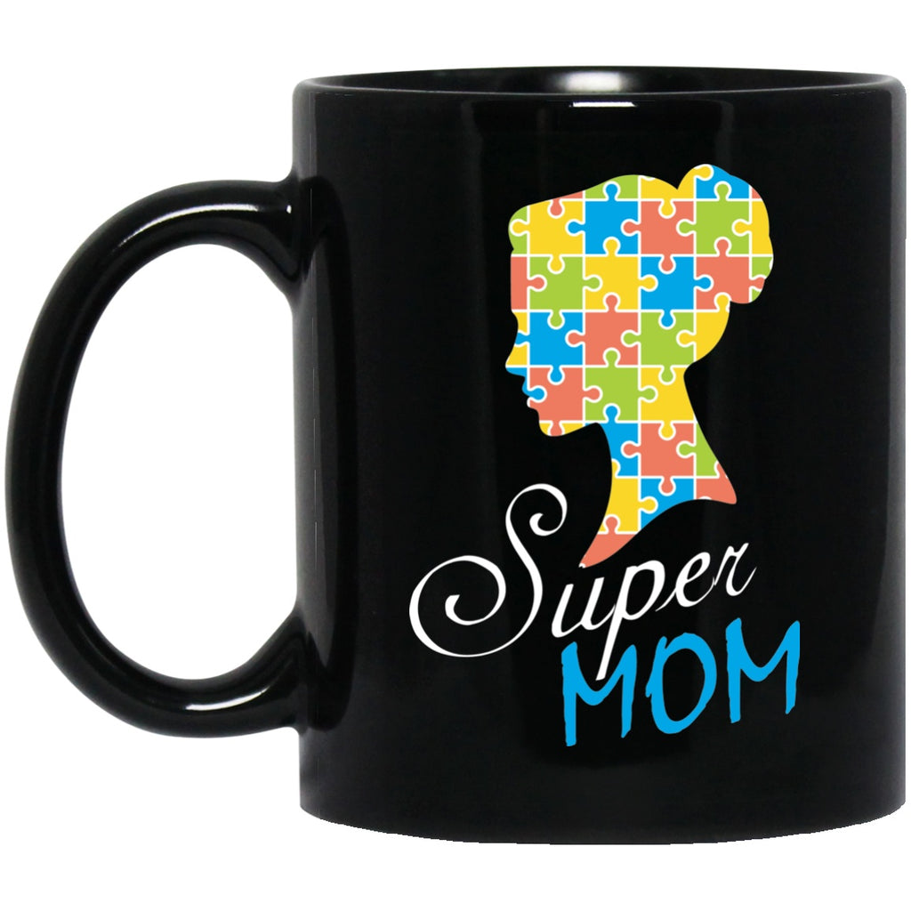 Autism Awareness Mug - Black Coffee Mugs - GoneBold.gift
