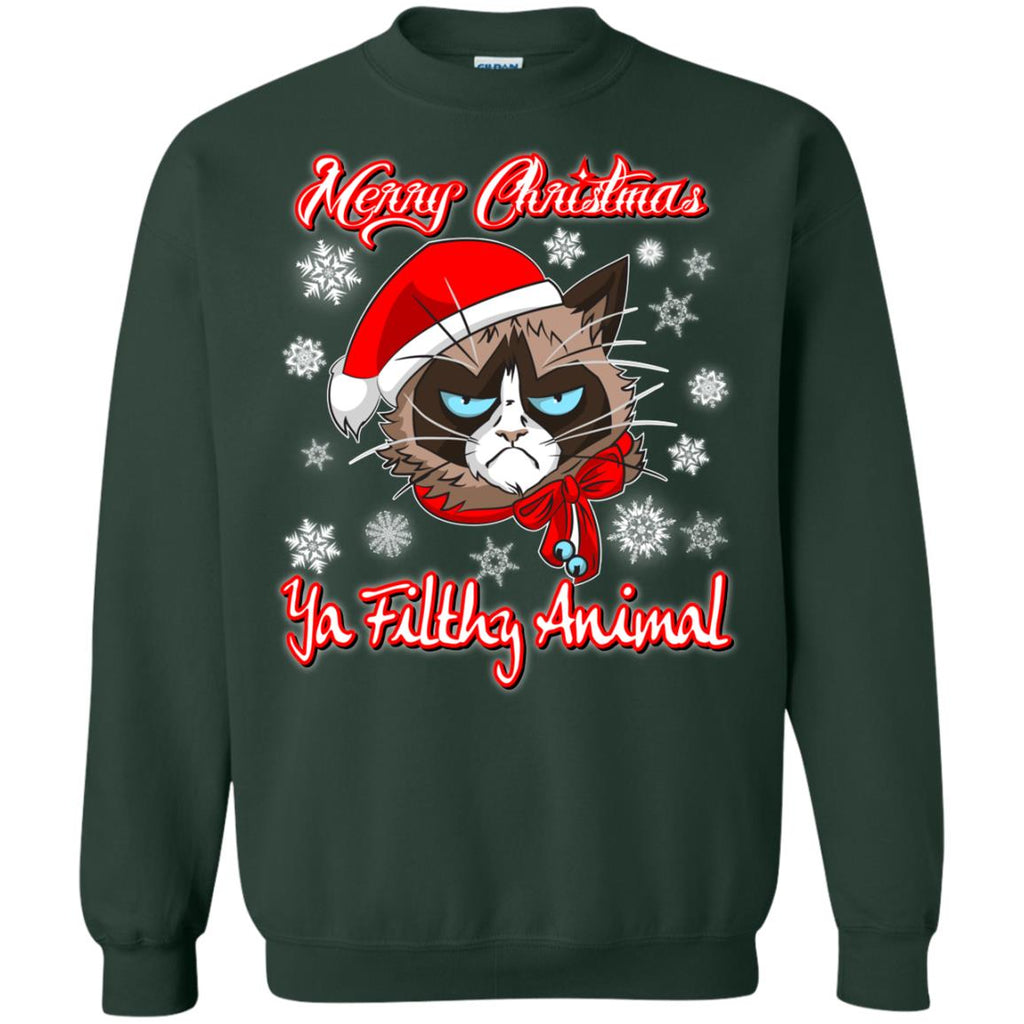 Christmas ugly Sweater Hoodie - Grumpy Cat Funny Christmas Gifts - GoneBold.gift
