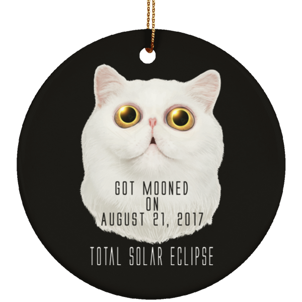 Christmas Tree Decorations - Solar Eclipse Cat Got Mooned Ornament - GoneBold.gift
