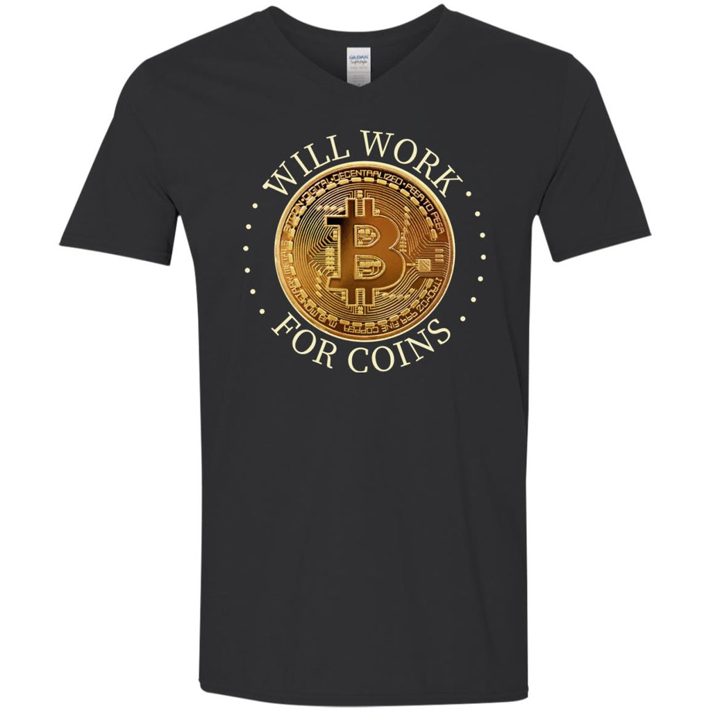 Bitcoin Shirt for Men - Will Work For Coins - GoneBold.gift