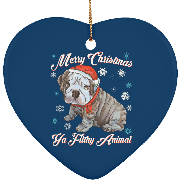 Christmas tree decorations - English Bulldog Puppy Ornament - GoneBold.gift