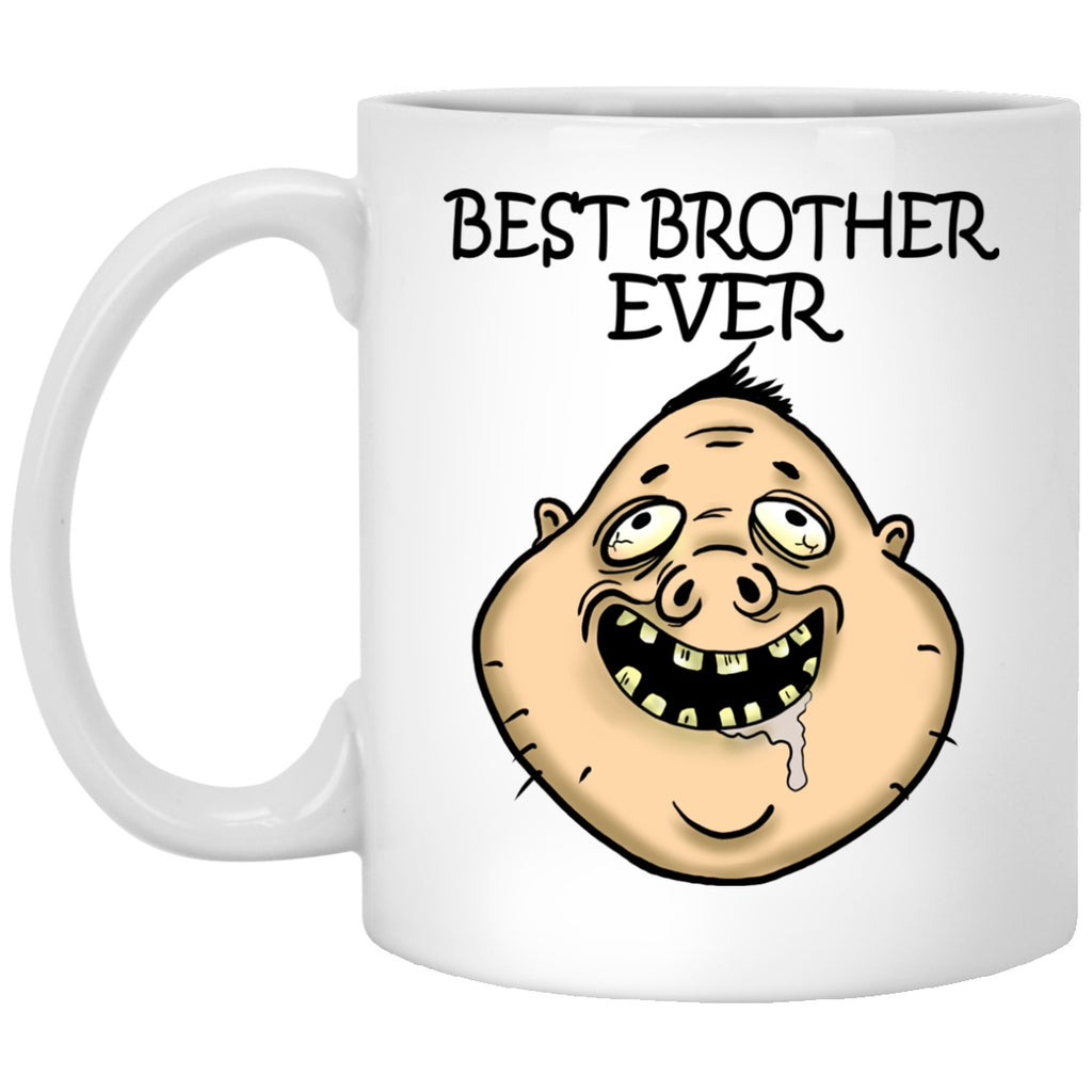 Best Brother Ever Funny Gift White Mugs - GoneBold.gift