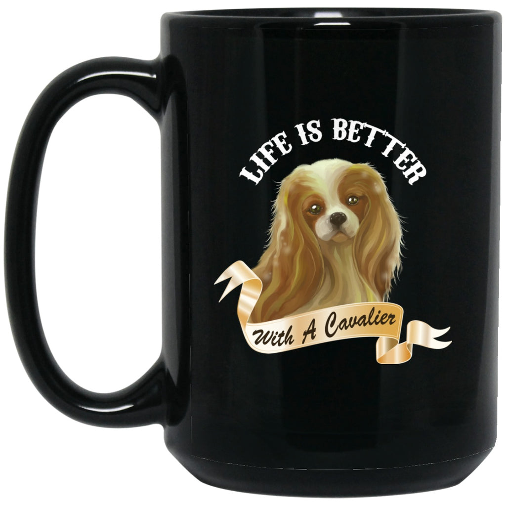 Cavalier King Charles Spaniel Black Coffee Mugs - GoneBold.gift
