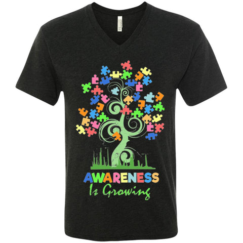 Autism Awareness Men's Shirt - Awareness Is Growing - GoneBold.gift