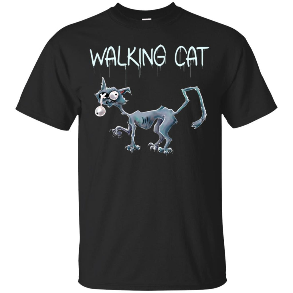 Cat Shirt - Zombie Cat Funny Unisex Tees - GoneBold.gift