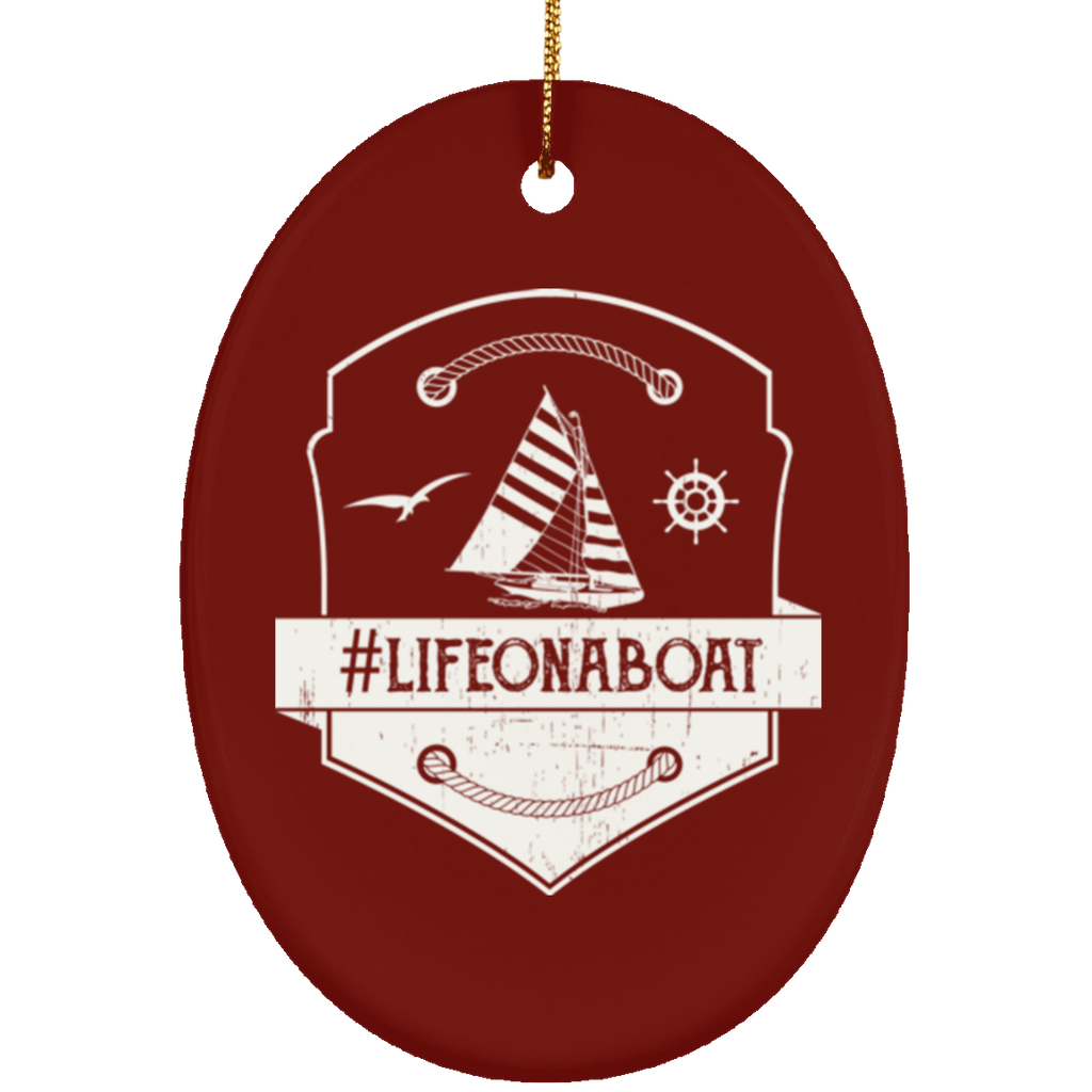Life On Boat Christmas Decorations Ornament - GoneBold.gift