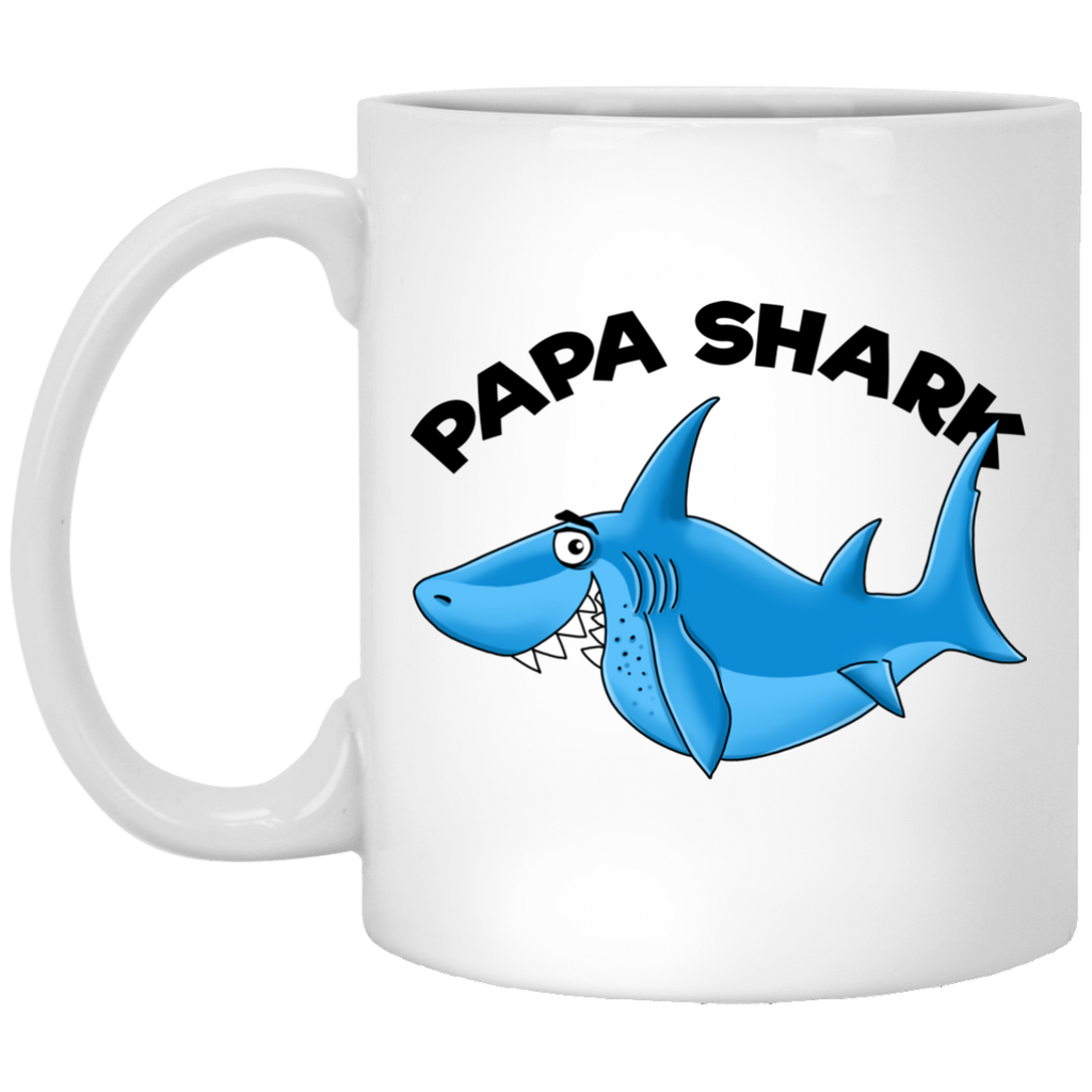Papa Shark Mug - Shark Family, Gift for Dad - GoneBold.gift