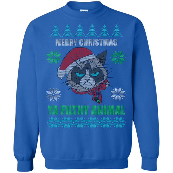 Christmas Ugly Sweater Grumpy Cat Funny Hoodies sweaters - GoneBold.gift