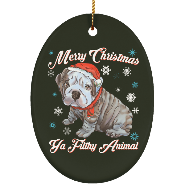 Christmas tree decorations - English Bulldog Puppy Ornament