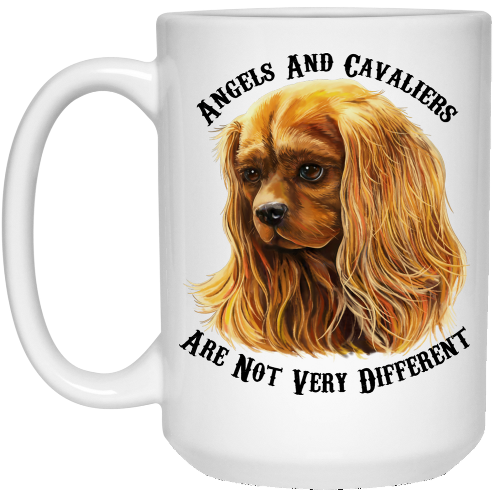Cavalier King Charles Spaniel Gifts - Cavaliers And Angels Ruby King Charles White Mugs White Mugs - GoneBold.gift