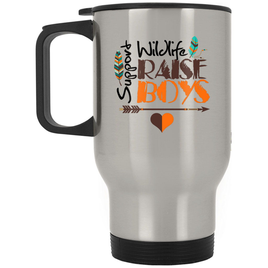 Mother of Boys Mom Gifts Stainless Travel Mug - GoneBold.gift