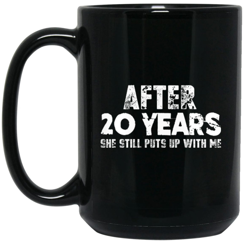 Anniversary Mug For Husband 20 years Black Coffee Mugs - GoneBold.gift