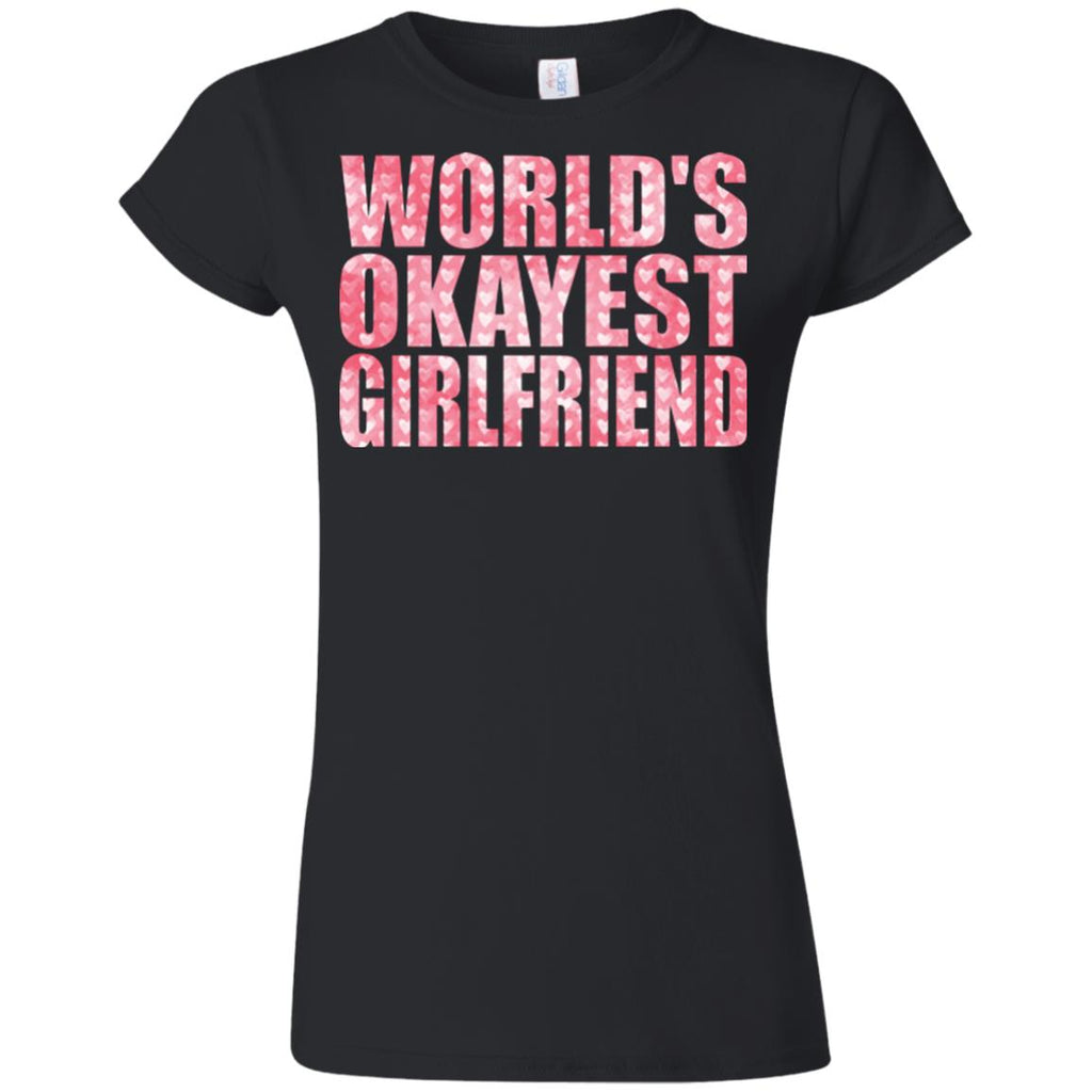 Funny Shirt Okayest Girlfriend Women tees n tanks - GoneBold.gift