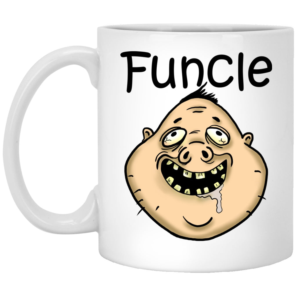 Funcle Funny Uncle Gift White Mugs - GoneBold.gift
