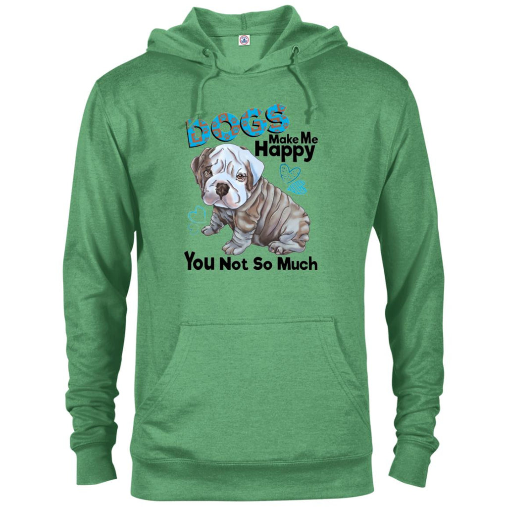 English bulldog Hoodie Dogs Make Me Happy - GoneBold.gift