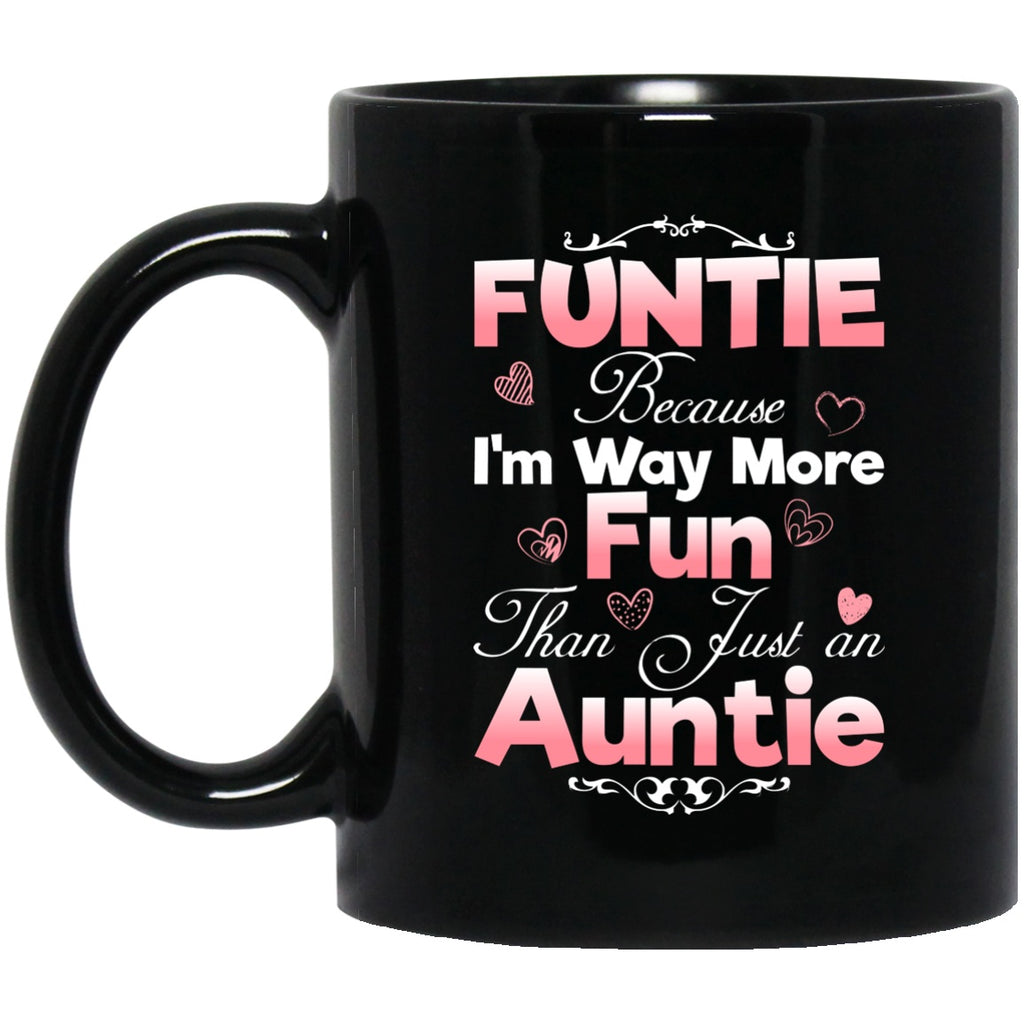 Funtie Gift For Aunt Black Coffee Mugs - GoneBold.gift