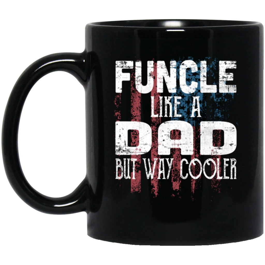 Funcle Mug gift for Uncle Black Coffee Mugs - GoneBold.gift
