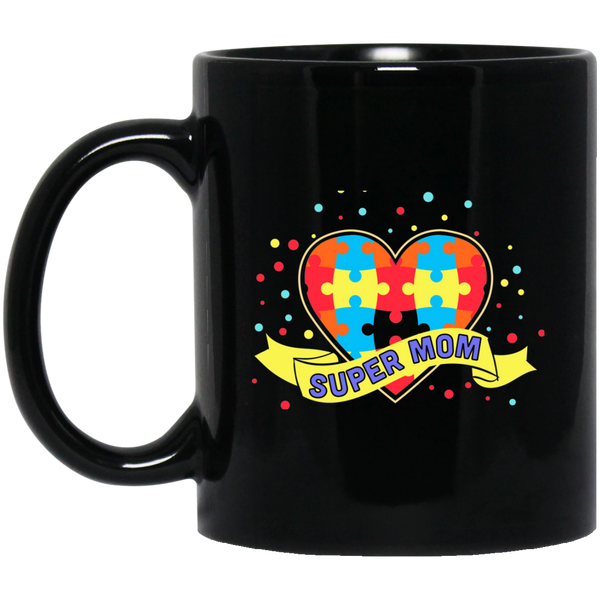 Autism Awareness Super Mom Mug - Coffee Mug mom gift