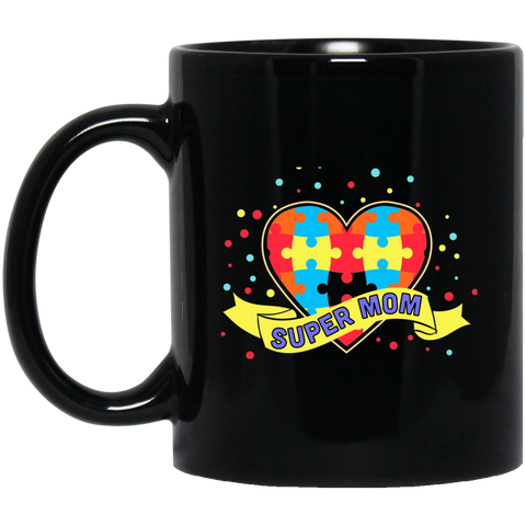 Autism Awareness Super Mom Mug - Coffee Mug mom gift - GoneBold.gift