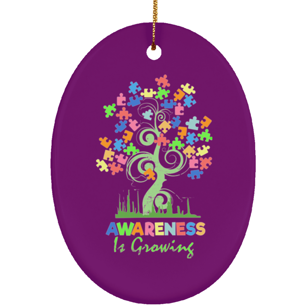 Autism Awareness Tree Christmas Decorations Ornament - GoneBold.gift