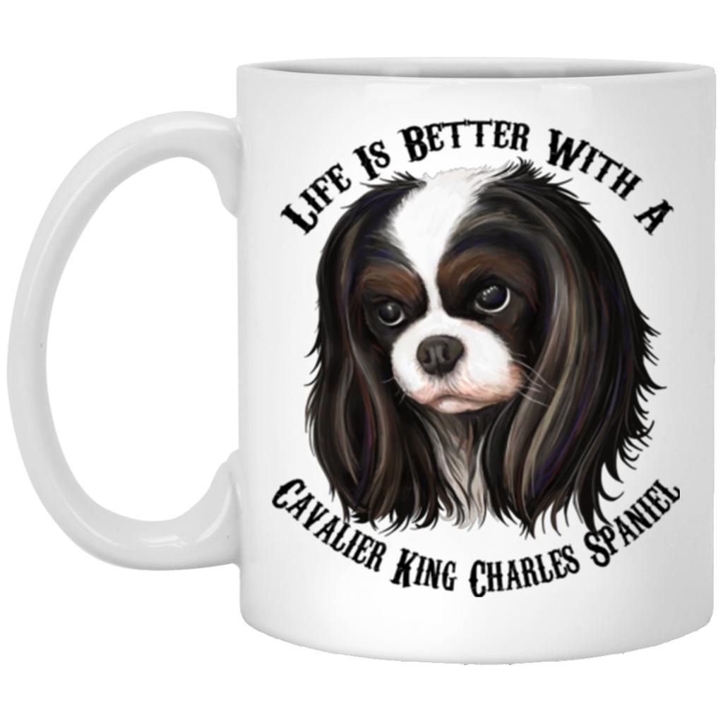 Cavalier King Charles Spaniel Mug - Life is Better With Cavalier - GoneBold.gift