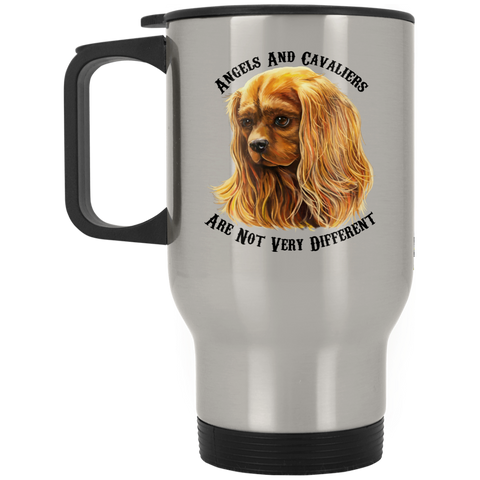Cavalier King Charles Spaniel Ruby Red Stainless Travel Mug - GoneBold.gift