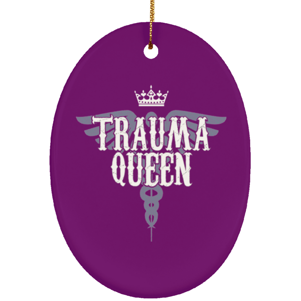 Nurse Gifts Trauma Queen Christmas Tree Decorantions Ornament - GoneBold.gift