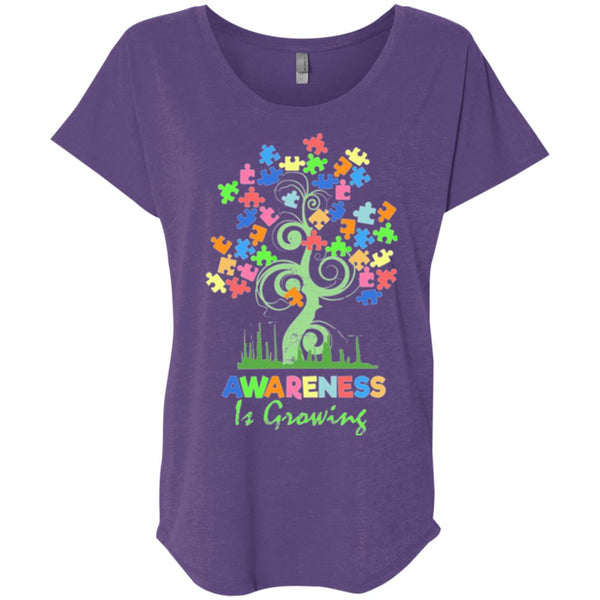 Autism Awareness Shirt For Women - Awareness Is Growing