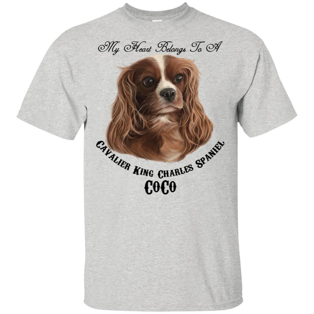 Custom Cavalier King Charles CoCo  Cotton T-Shirt - GoneBold.gift
