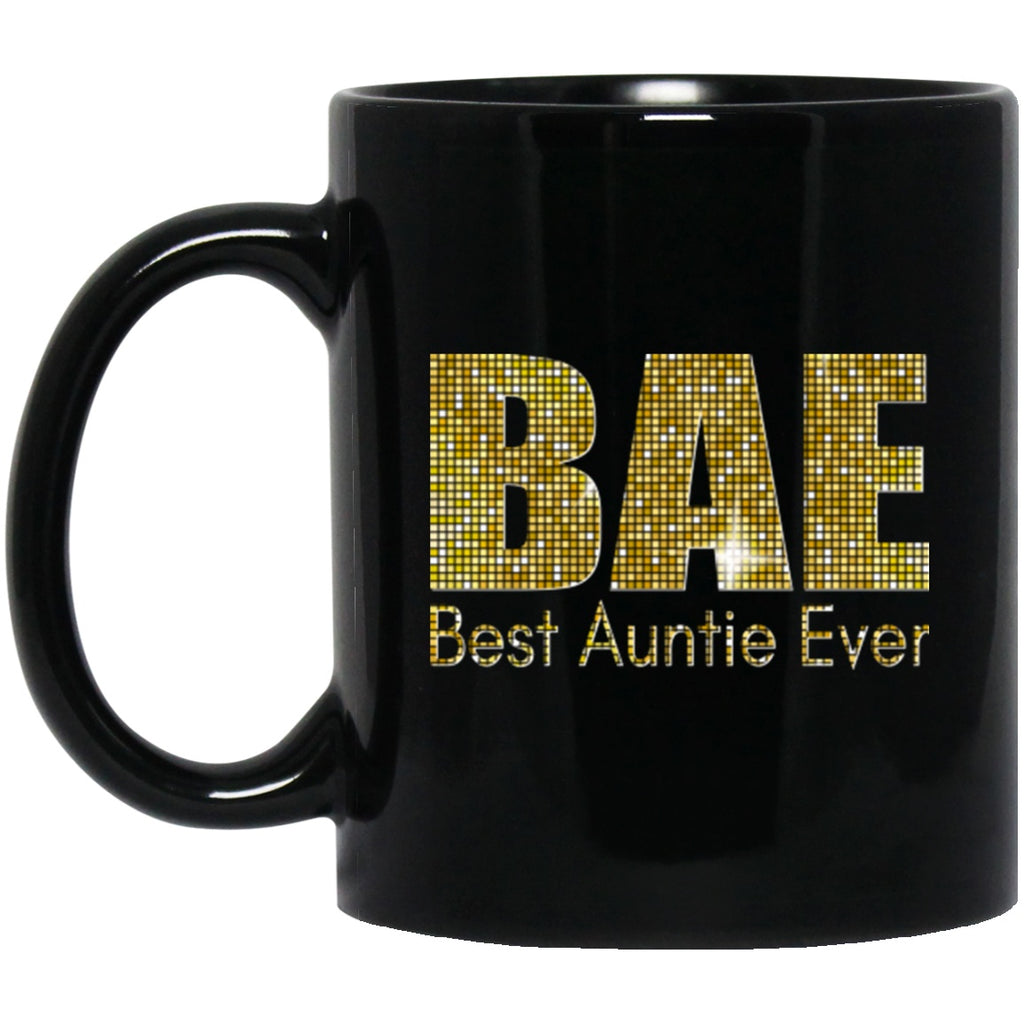 Aunt Mug BAE Best Auntie Ever Funny Black Coffee Mugs - GoneBold.gift