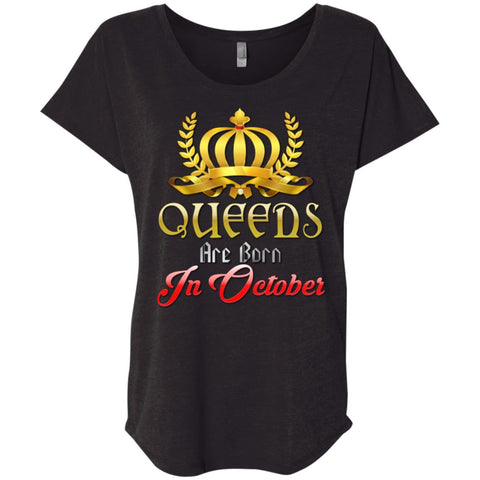 Queens Are Born In October shirts Women tees n tanks