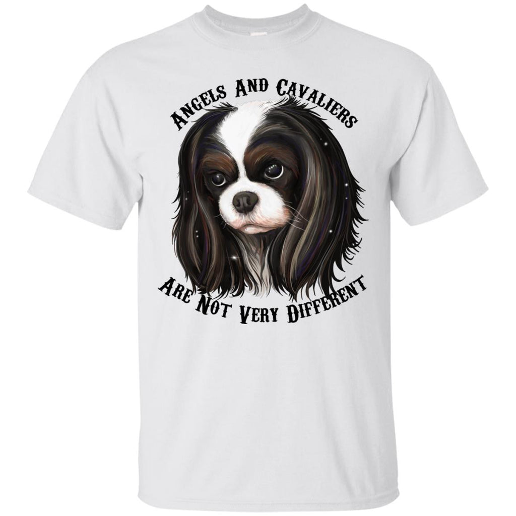 Cavalier King Charles Spaniel Tricolor Angels T-Shirt - GoneBold.gift