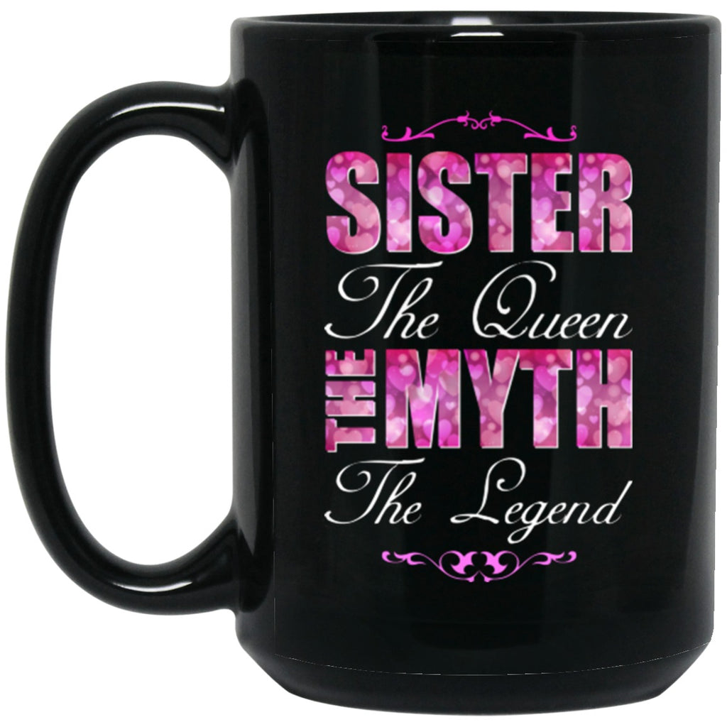 Sister Mug Queen Black Coffee Mugs - GoneBold.gift