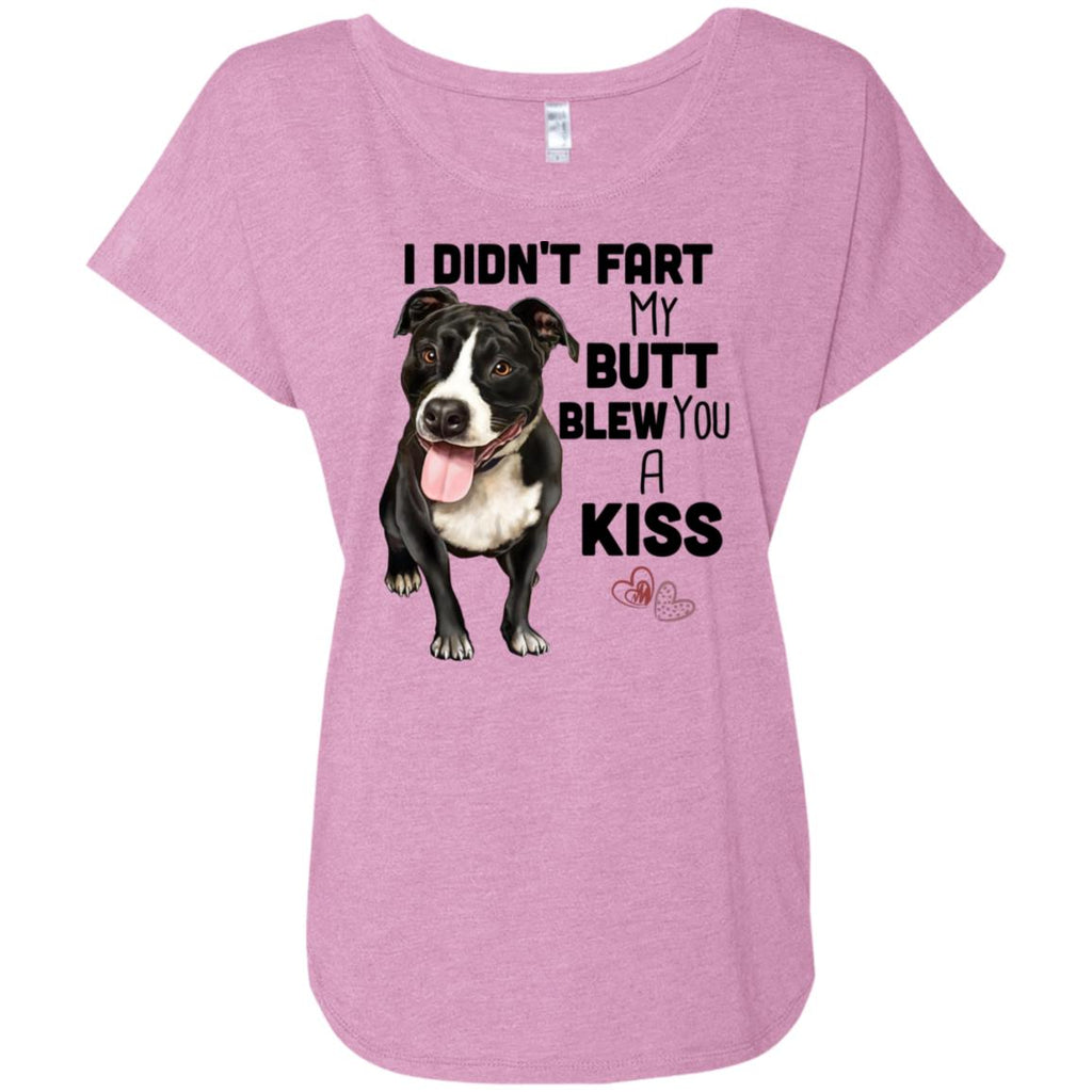 Pit Bull Shirt for Women, Girls - I Didn't Fart My Butt Blew You A Kiss - GoneBold.gift