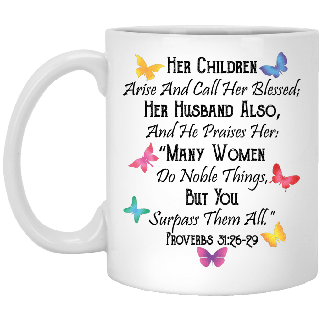 Bible Verse Coffee Mug for Wife, Mom gifts - GoneBold.gift