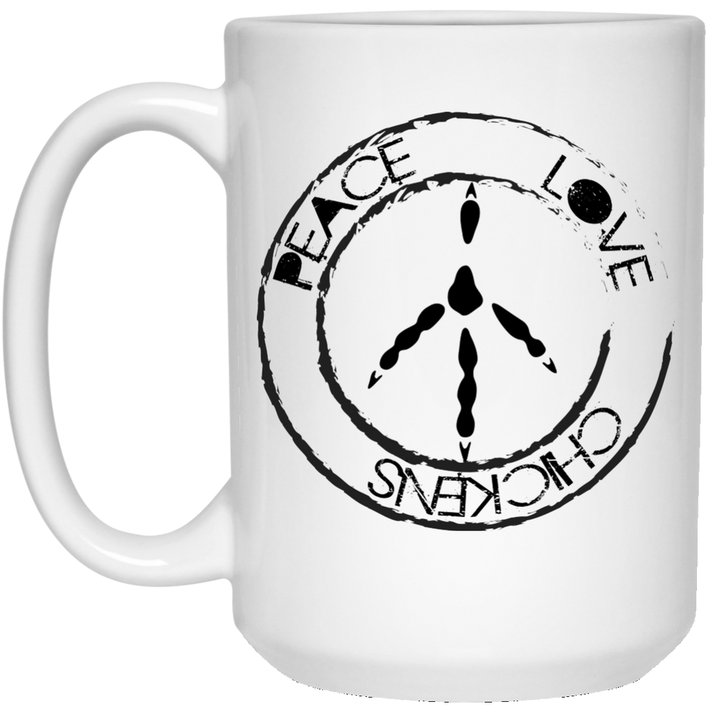Vegan Mug - Peace Sign, Chicken Lover Gifts, Vegan Gifts - GoneBold.gift