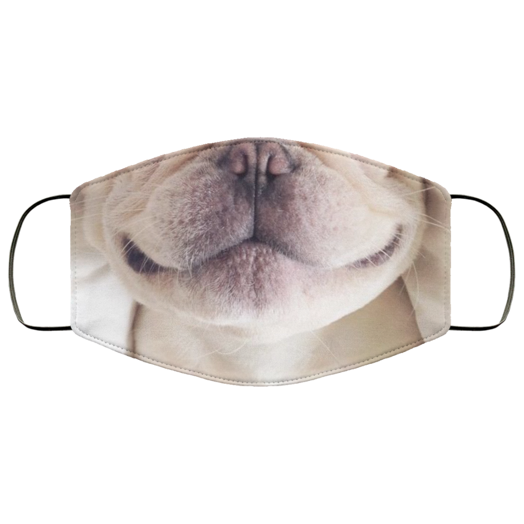 French Bulldog Face Mask, Funny Dog Lover Mask