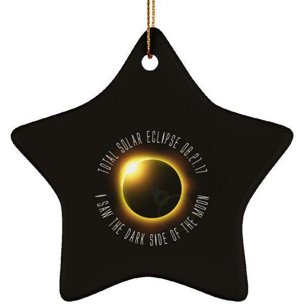 Christmas Tree Decorations - Solar Eclipse Ornament - GoneBold.gift